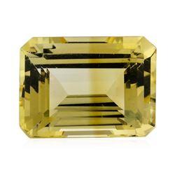 12.34 ct.Natural Emerald Cut Citrine Quartz