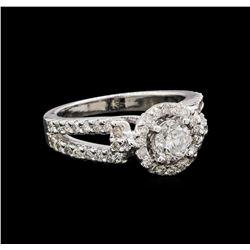 14KT White Gold 1.17 ctw Diamond Ring