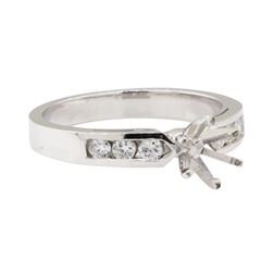 0.25 ctw Diamond Semi-Mount Ring - 14KT White Gold