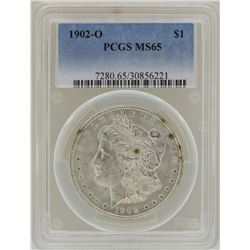 1902-O $1 Morgan Silver Dollar Coin PCGS MS65