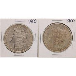 Lot of (2) 1900 $1 Morgan Silver Dollar Coins