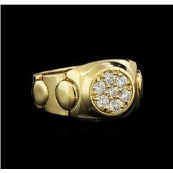 0.74 ctw Diamond Ring - 14KT Yellow Gold
