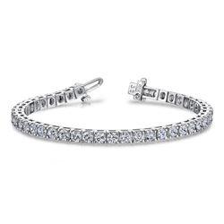 14K White Gold 18.70CTW Diamond Bracelet, (SI/G-H)