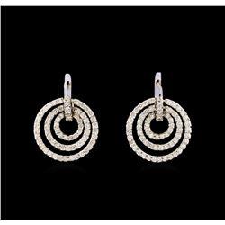 14KT White Gold 2.81 ctw Diamond Earrings