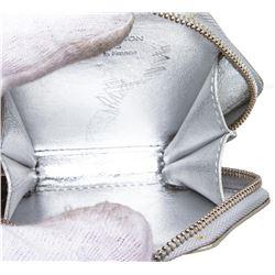 Louis Vuitton Silver Vernis Monogram Flocon Snowflake Coin Purse Wallet