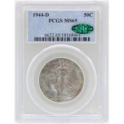 1944-D Walking Liberty Half Dollar Coin PCGS MS65 CAC
