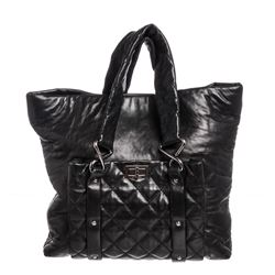 Chanel Black Leather Quilted Reissue Shoulder Bag Tote