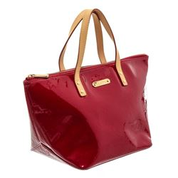 Louis Vuitton Red Vernis Leather Bellevue PM Bag