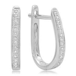14k Gold 0.07CTW Diamond Earrings, (I1)