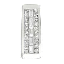 14k White Gold 0.49CTW Diamond Pendant, (H-I)