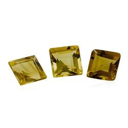 2.96 ctw.Natural Square Step Cut Citrine Quartz Parcel of Three