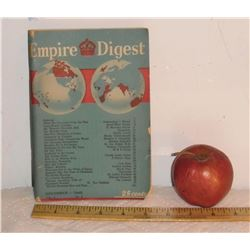 December 1945 Empire Digest  Vol. 3 No. 3 antique magazine on the British Empire includes Canada