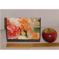 Small LangdonArt original painting for table, selve, paperweight on desk at home or office -peinture