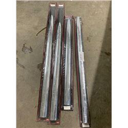 4 universal chrome door mouldings