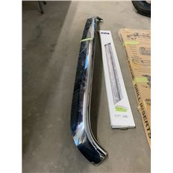 2 stainless steel grill inserts , one belt moulding set and one chrome bug deflector 11 Dodge Ram