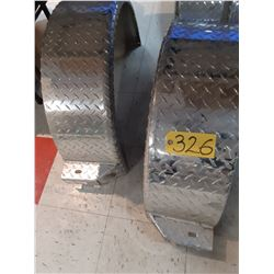 Two - Checker Plat Round Fenders
