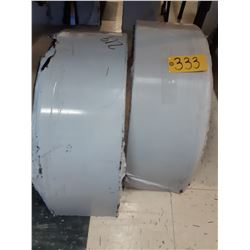 Two Round Trailer Fenders