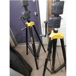 Two Crank Up Speaker Stands and other parts