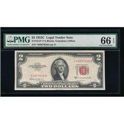 1953C $2 Legal Tender STAR Note PMG 66EPQ