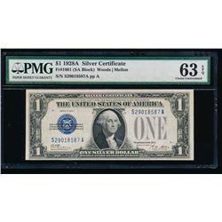 1928A $1 Silver Certificate PMG 63EPQ