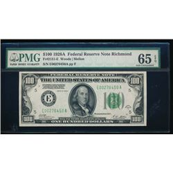 1928A $100 Richmond Federal Reserve Note PMG 65EPQ
