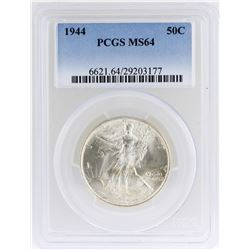 1944 Walking Liberty Half Dollar Coin PCGS MS64