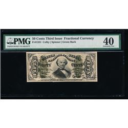 50 Cent Third Issue Fractional Note PMG 40