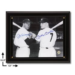 Joe DiMaggio & Mickey Mantle Yankee Greats Signed