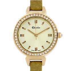 Eberle Classic Crystal Studded Bezel Ladies Watch