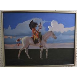 CREEK INDIAN PAINTING (CHEBON BARNOSKIE)