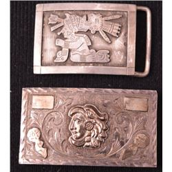 MEXICAN SILVER BUCKLES