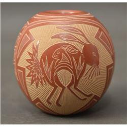 SANTA CLARA INDIAN POTTERY SEED JAR (JOSEPH LONEWOLF)