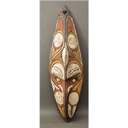 AFRICAN WOODEN MASK WALL PLAQUE