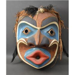 NORTHWEST COAST INDIAN WOODEN MASK (FRED PETERS)