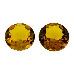 10.43 ctw.Natural Round Cut Citrine Quartz Parcel of Two
