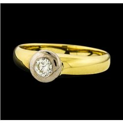 0.30 ctw Diamond Ring - 14KT Yellow and White Gold