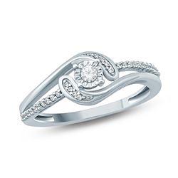 14K White Gold 0.16CTW Diamond Ring, (I1-I2/H-I)