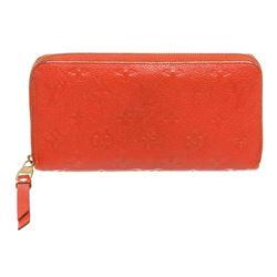 Louis Vuitton Red Empriente Leather Monogram Zippy Wallet