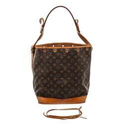 Louis Vuitton Monogram Canvas Leather Noe GM Drawstring Bag