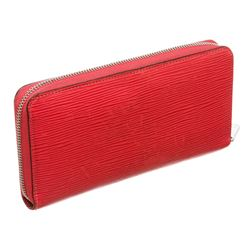 Louis Vuitton Red Epi Leather Monogram Zippy Wallet