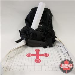 Backpack with Variety of Paper Targets