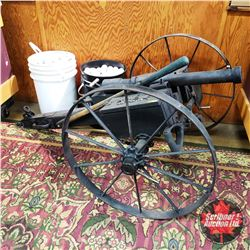 Home Made Black Powder Cannon (comes with 2 Pails of Golf Balls - approx 600)