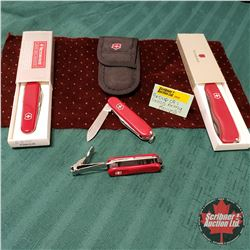 Group of Swiss Army Knives (4)
