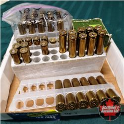 AMMO: Variety (18Rnds 25-06) & (9Rnds 30-06) & (5Rnds 220Swift) & Variety of Brass + (43Rnds of 38 S