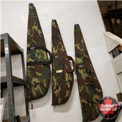 3 Soft Shell Gun Cases - Camo