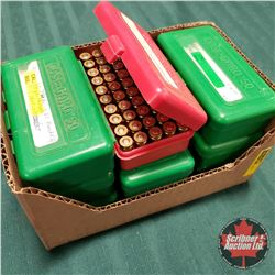 AMMO: 9mm Reloads (435 Rnds) w/9 Plastic Ammo Cases