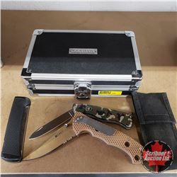 Lock Blade Knives (3) w/Vaultz Black Lock Out Case