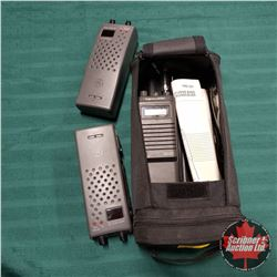 REALISTIC 40 Channel Transceiver & GE Walkie Talkies (2) w/Carry Bag