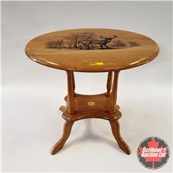 "Cabela's End Table ""Whitetail Deer"""