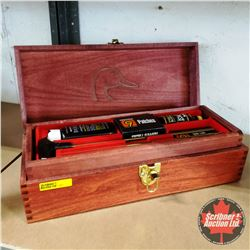 Ducks Unlimited Wooden Case HOPPE's Gun Cleaning Kit